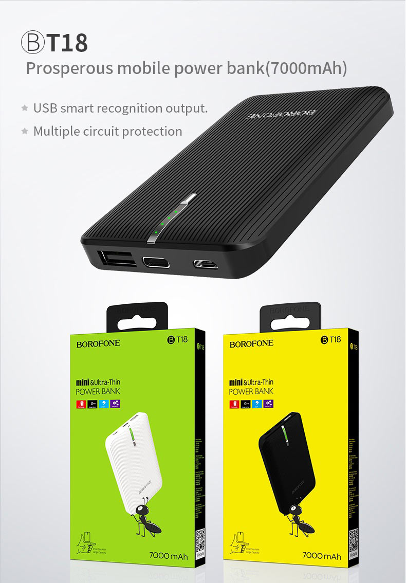 borofone news t series power bank t18 en