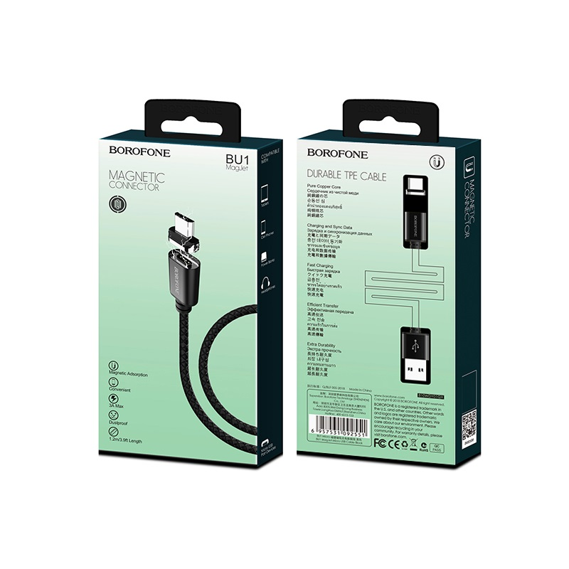 borofone bu1 magjet micro usb charging data cable packages
