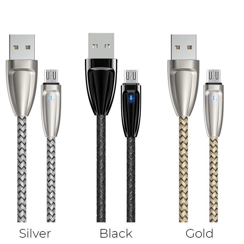 borofone bu3 blinkjet micro usb charging data cable colors