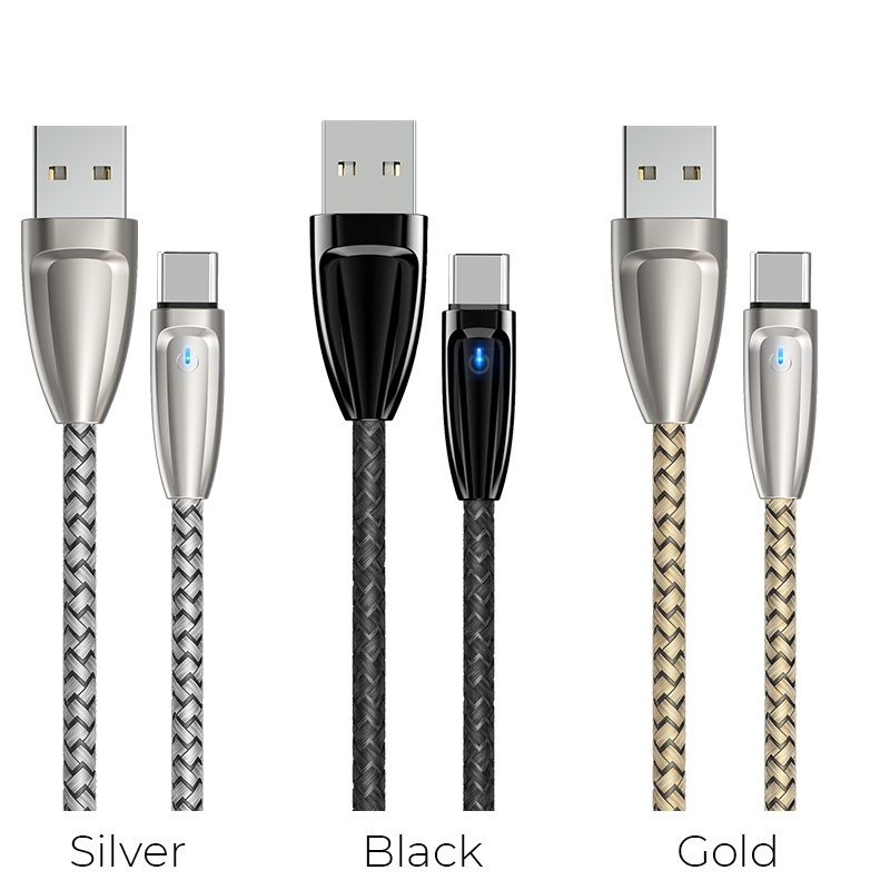 borofone bu3 blinkjet type c usb charging data cable colors