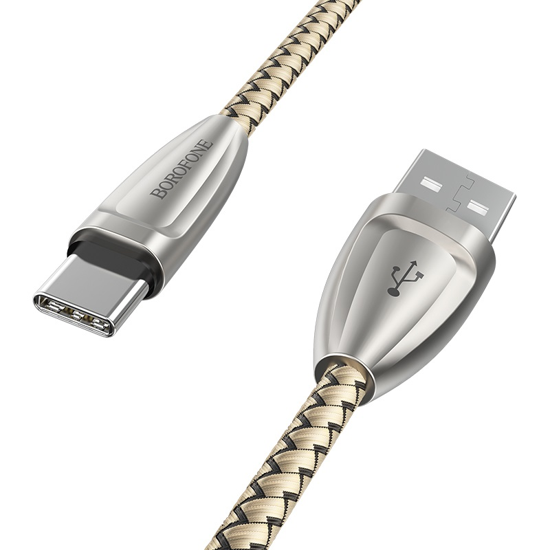 borofone bu3 blinkjet type c usb charging data cable logo