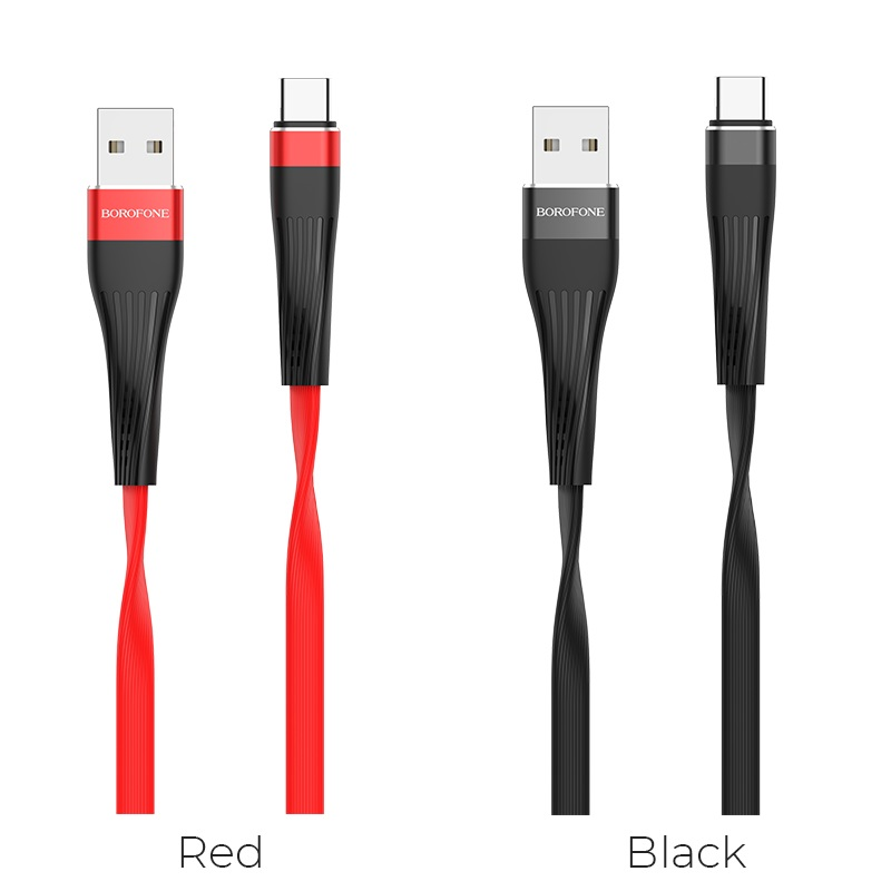 borofone bu4 small waistline type c charging data usb cable colors