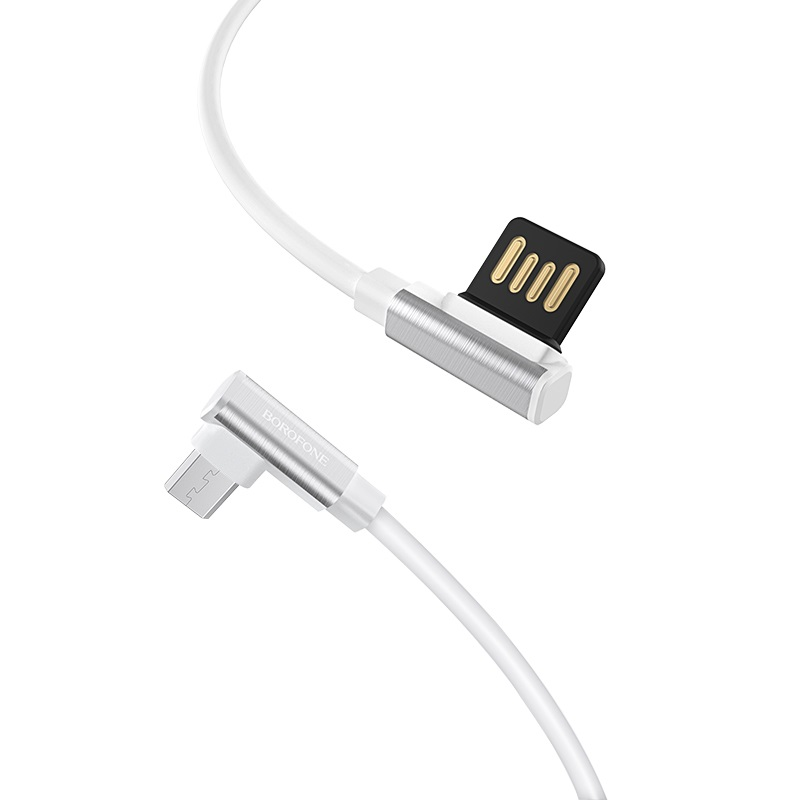 borofone bu5 ice steel micro charging data usb cable connector