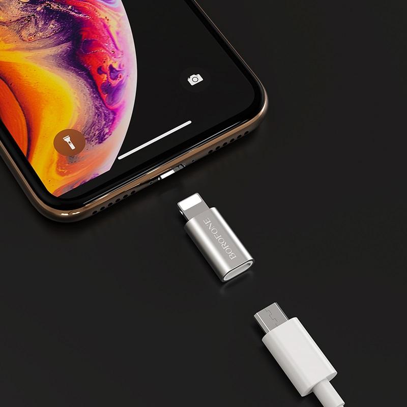 borofone bv5 micro usb to lightning adapter phone