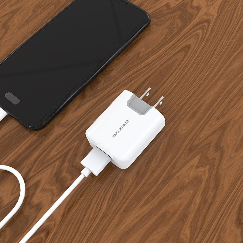 borofone ba10 ezport single usb port charger us overvew