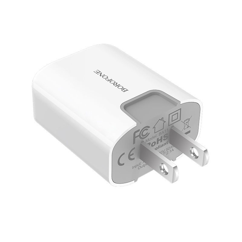 borofone ba11 funport single usb port charger us safe