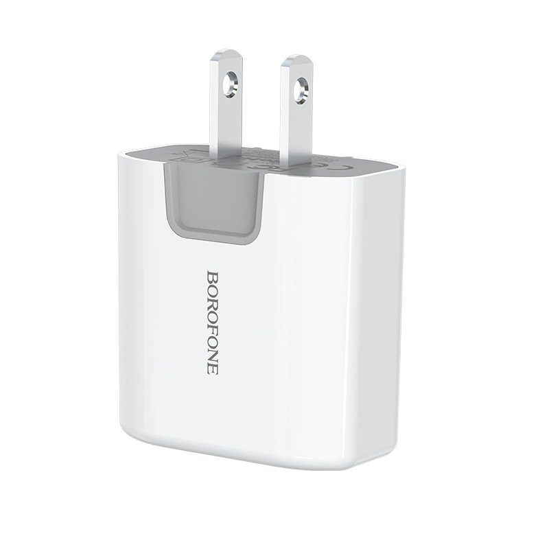 borofone ba12 uport double usb port charger us logo