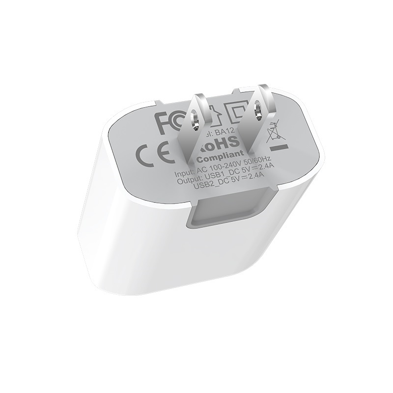 borofone ba12 uport double usb port charger us plug