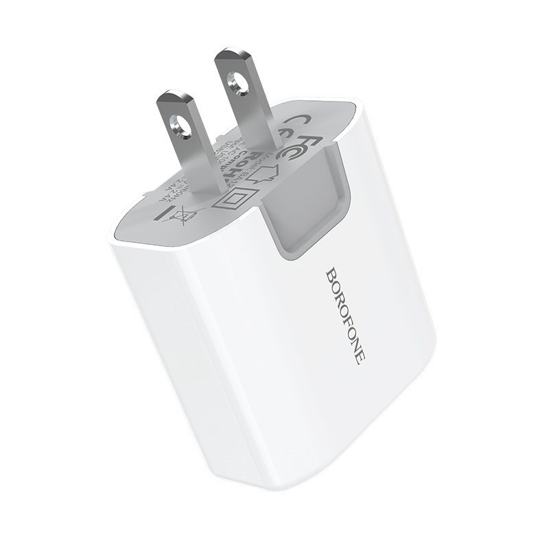 borofone ba12 uport double usb port charger us safe