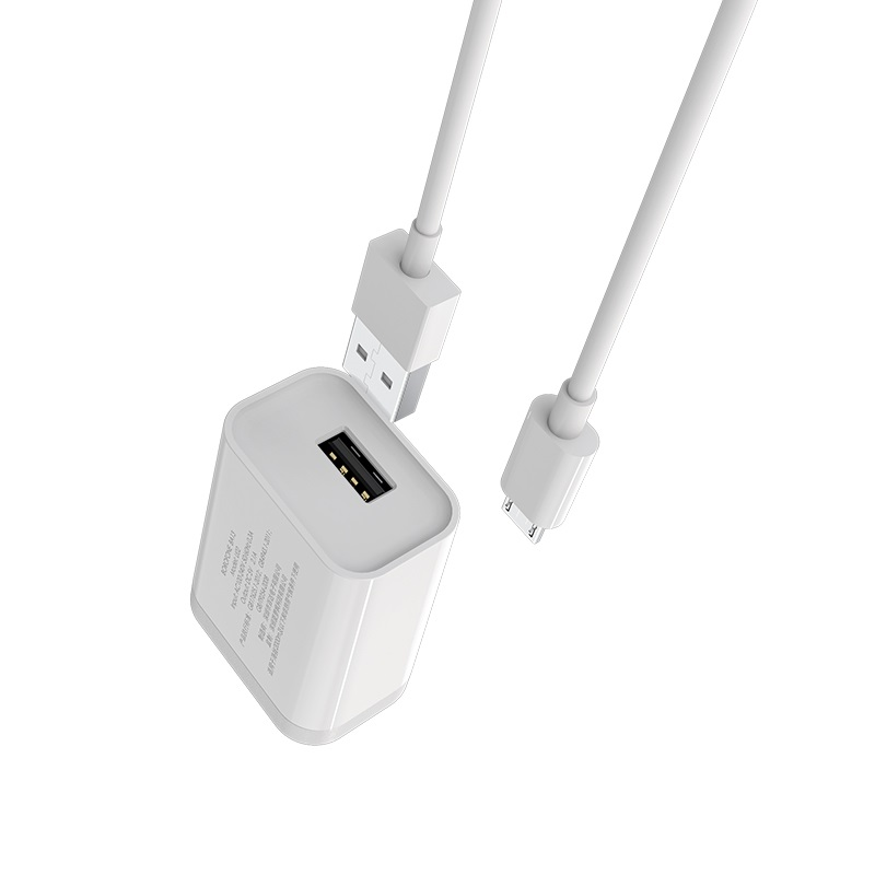 borofone ba13 miniport single usb port charger 3c set with micro usb cable overview