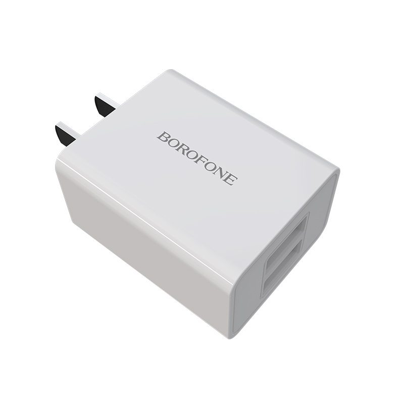 borofone ba16 newport dual usb wall charger 3c durable