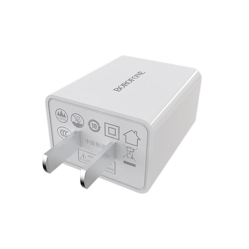 borofone ba16 newport dual usb wall charger 3c plug