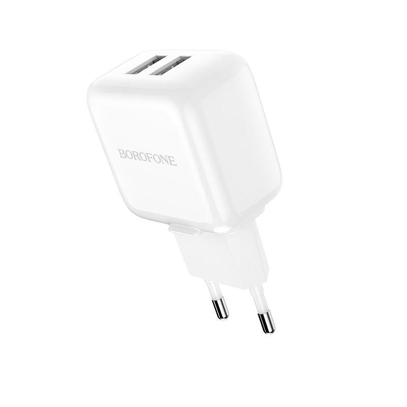 borofone ba18 vigorous power dual usb port wall charger eu charging