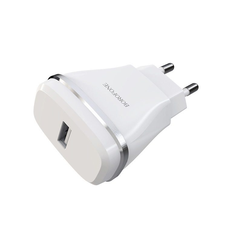 borofone ba1a joyplug single usb port charger eu port
