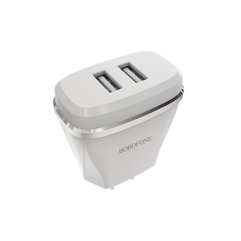 borofone ba2 joyplug double usb port charger us adapter