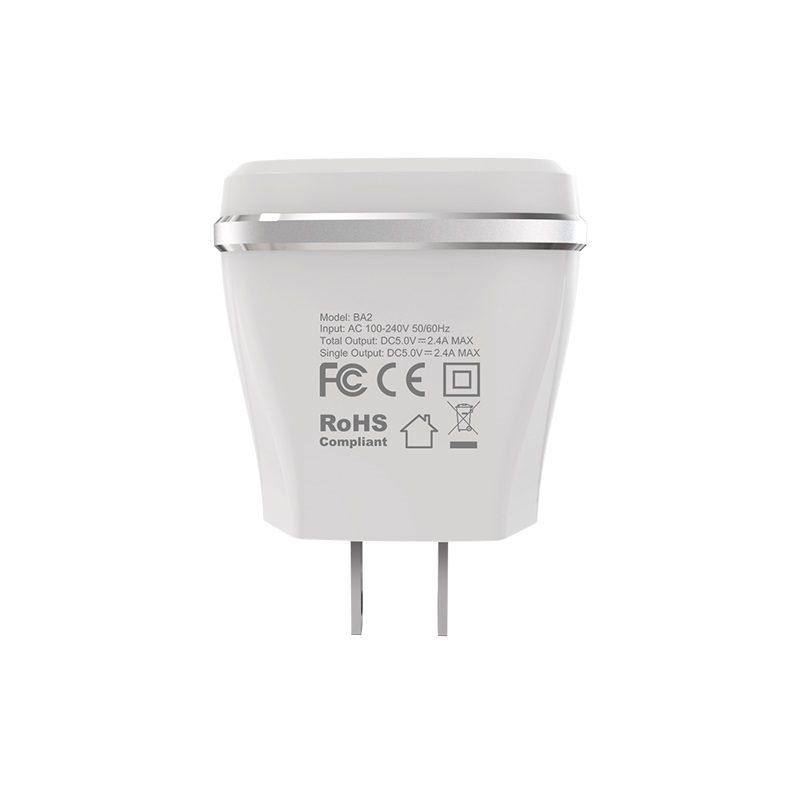 borofone ba2 joyplug double usb port charger us durable