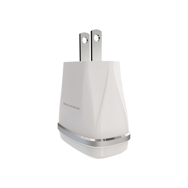 borofone ba2 joyplug double usb port charger us plug