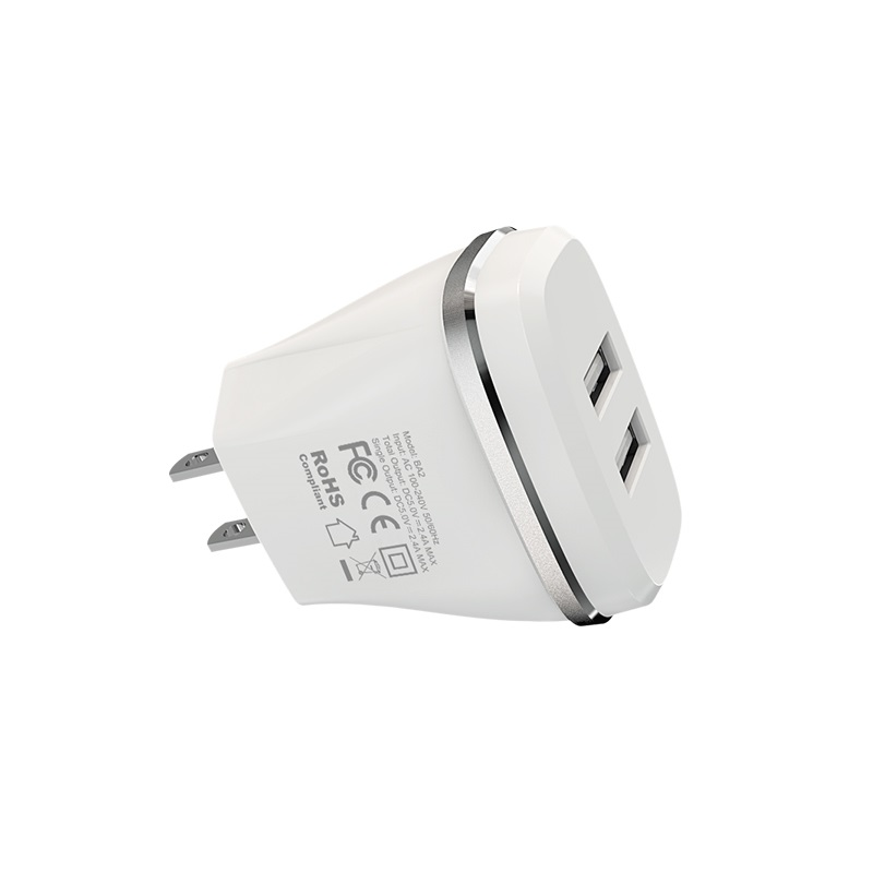 borofone ba2 joyplug double usb port charger us safe