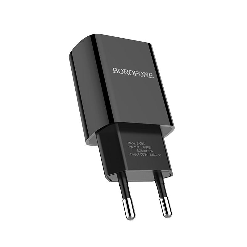 borofone ba20a sharp single usb port wall charger eu adapter