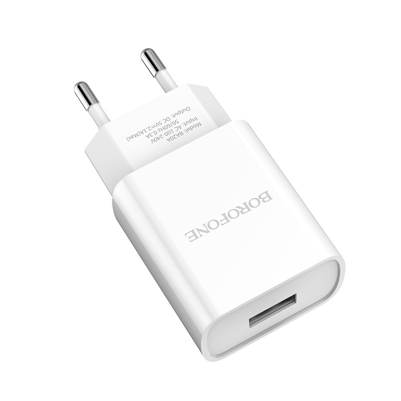 borofone ba20a sharp single usb port wall charger eu safe