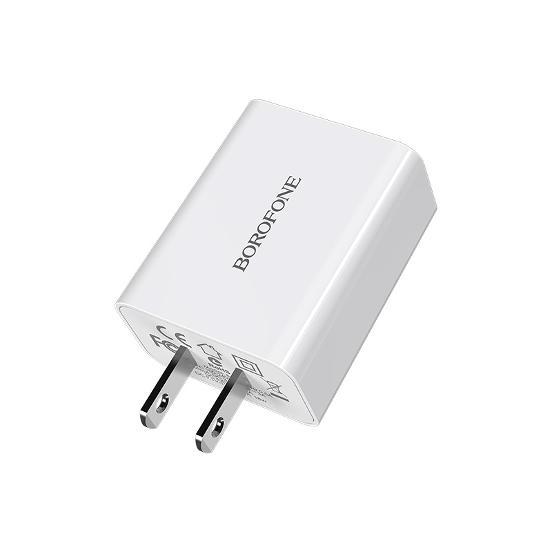 borofone ba21 long journey single usb port qc30 wall charger us pins