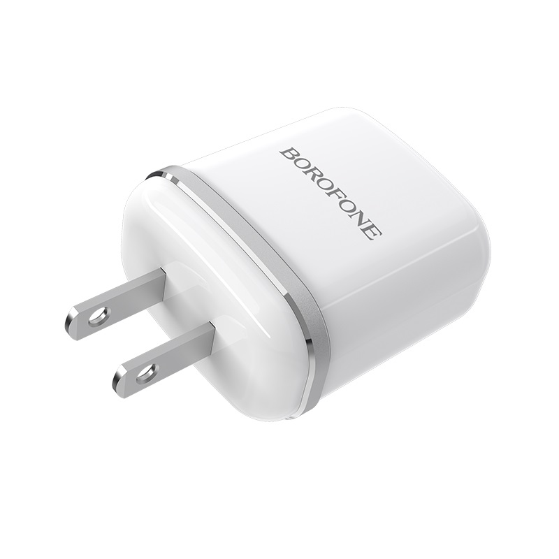 borofone ba25 outstanding dual usb port charger us plug