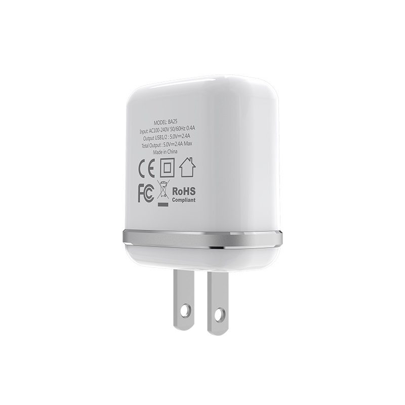 borofone ba25 outstanding dual usb port charger us specs