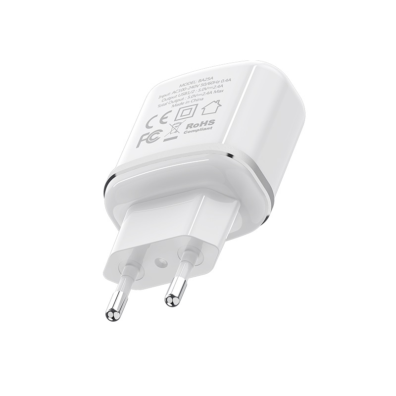 borofone ba25a outstanding dual port charger eu plug
