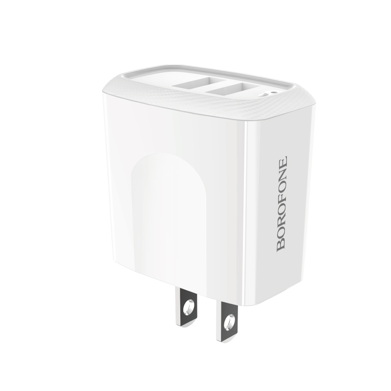 borofone ba3 ezplug double usb port charger us adapter
