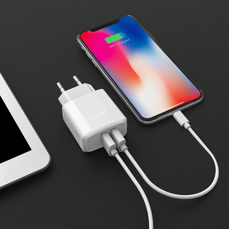 borofone ba3a ezplug double usb port charger eu overview