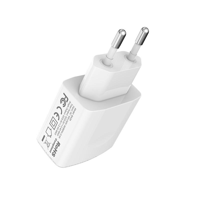 borofone ba3a ezplug double usb port charger eu plug