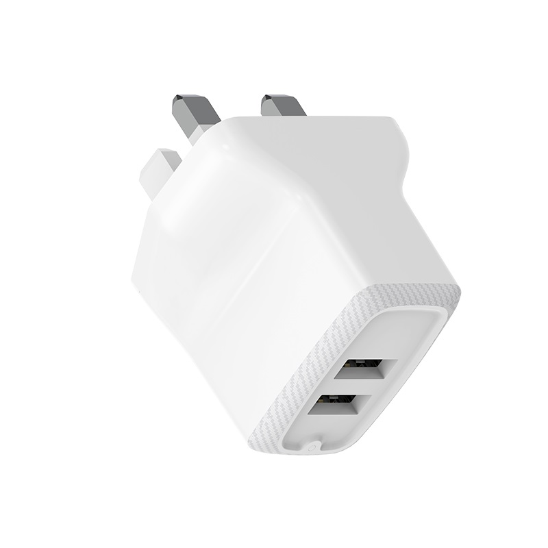 borofone ba3b ezplug double usb port charger uk adapter