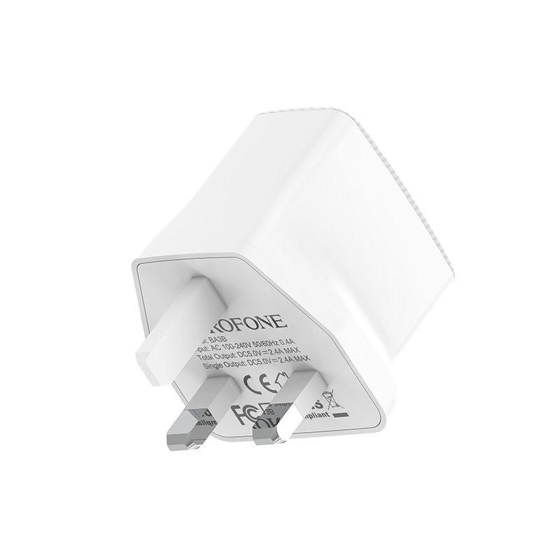 borofone ba3b ezplug double usb port charger uk safe