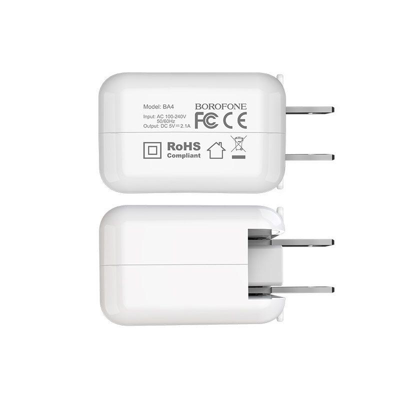 borofone ba4 iplug single usb port charger us durable