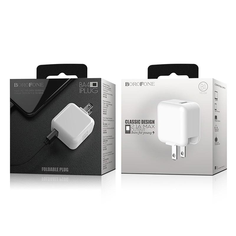 borofone ba4 iplug single usb port charger us package