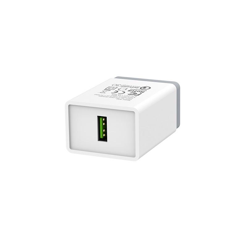 borofone ba5 fastplug qc30 single usb port charger us adapter