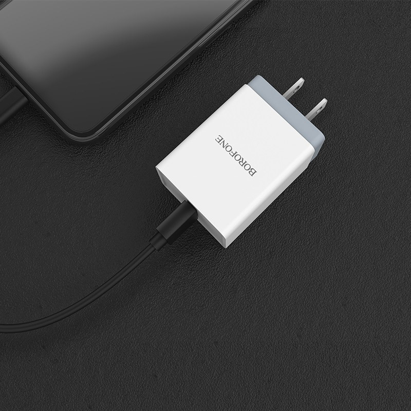 borofone ba5 fastplug qc30 single usb port charger us overview