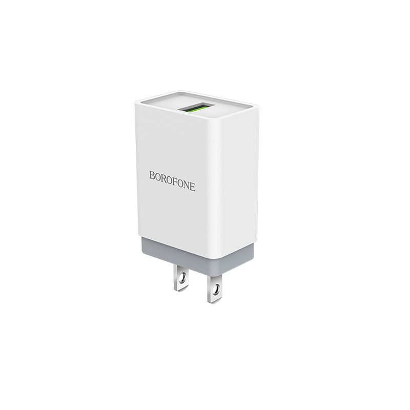 borofone ba5 fastplug qc30 single usb port charger us plug