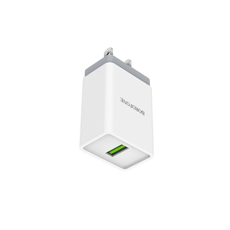 borofone ba5 fastplug qc30 single usb port charger us ports