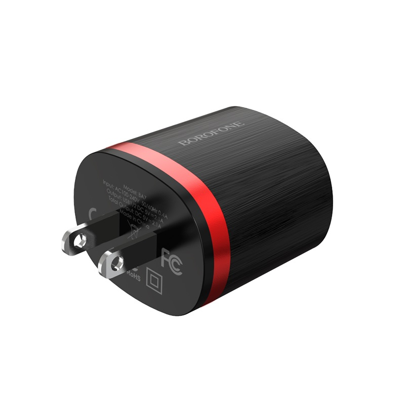 borofone ba7 flashplug double usb port charger us durable