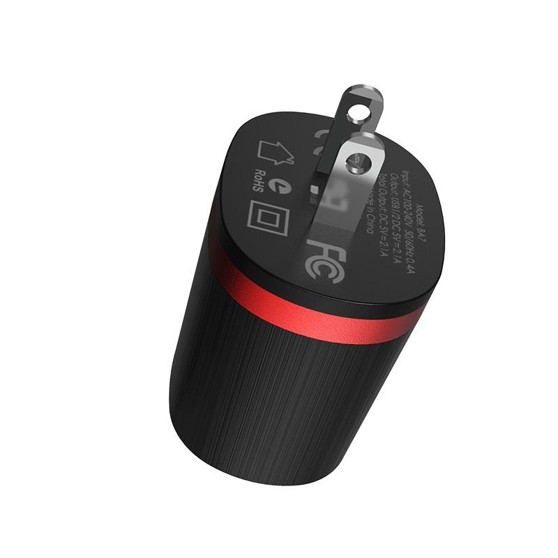 borofone ba7 flashplug double usb port charger us plug