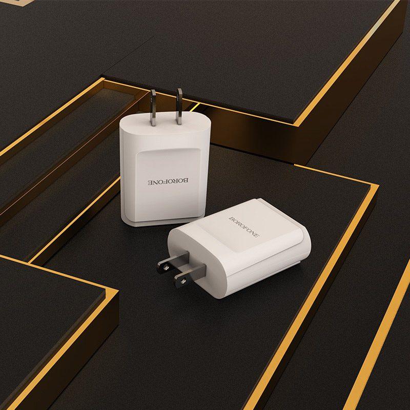 borofone ba8 leplug double usb port charger us adapter