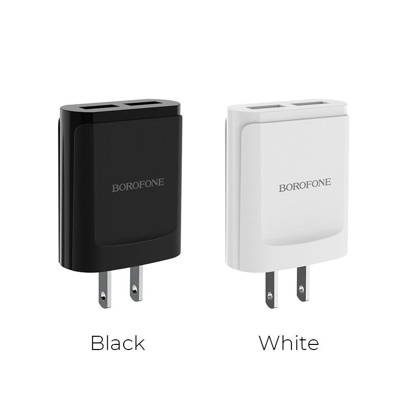 borofone ba8 leplug double usb port charger us colors