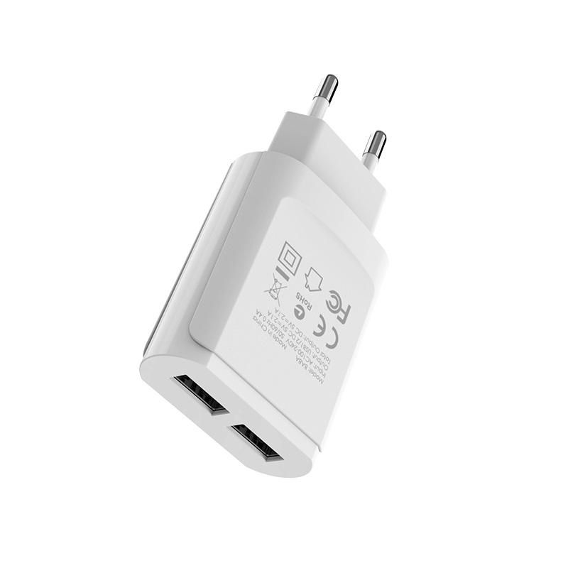 borofone ba8a leplug double usb port charger eu ports
