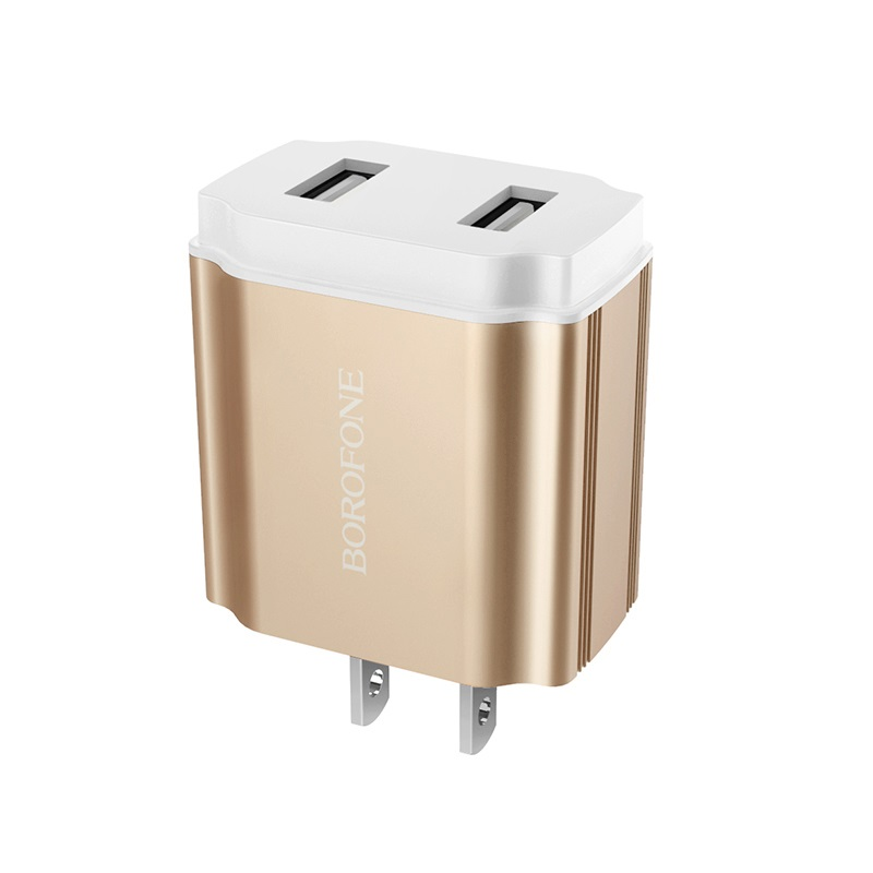 borofone ba9 freeplug dual usb port charger us 2.1a ports