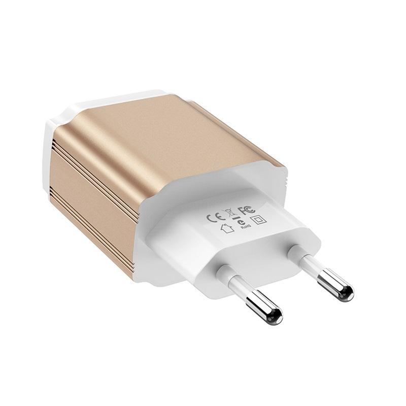 borofone ba9a freeplug dual usb port charger eu plug