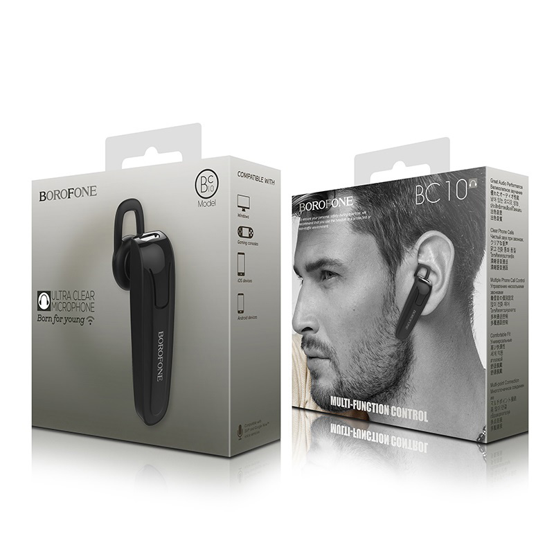 borofone bc10 wetalk business wireless earphone package black