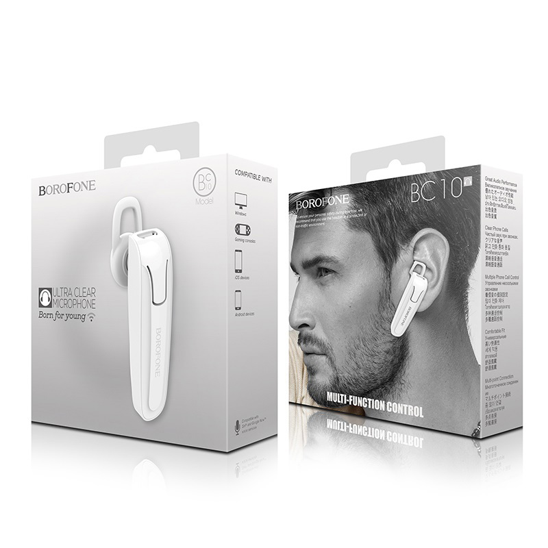 borofone bc10 wetalk business wireless earphone package white