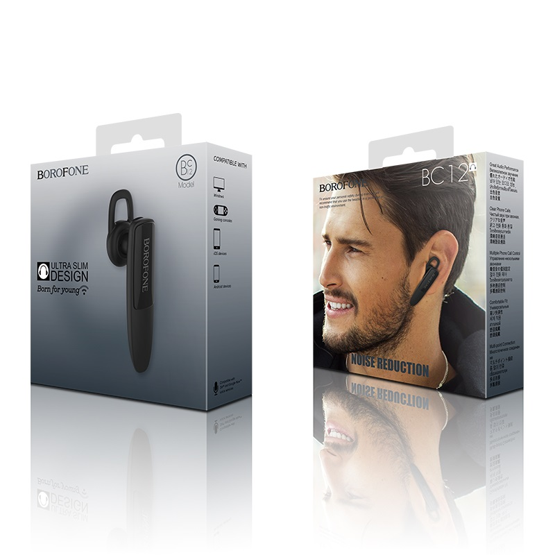 borofone bc12 joytalk business wireless earphone black box
