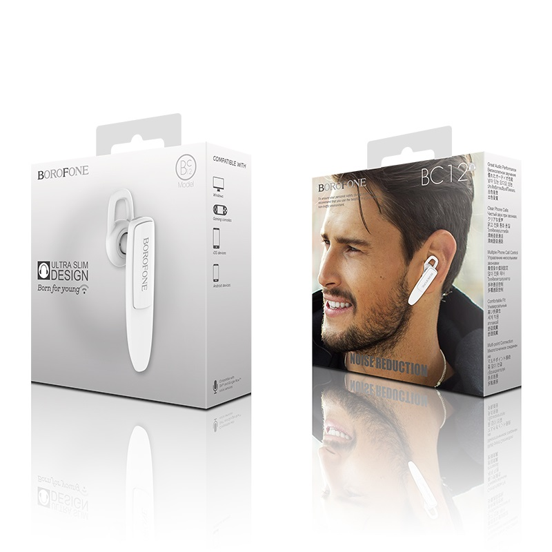 borofone bc12 joytalk business wireless earphone white box